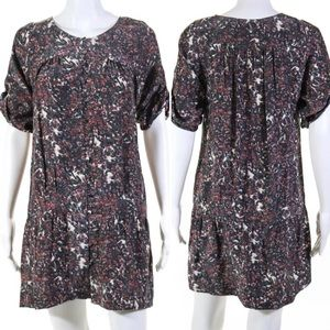 Sandro | Tired Mid Sleeve Floral Silk Dress Small